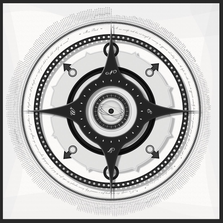 Squishy Lemons compass print